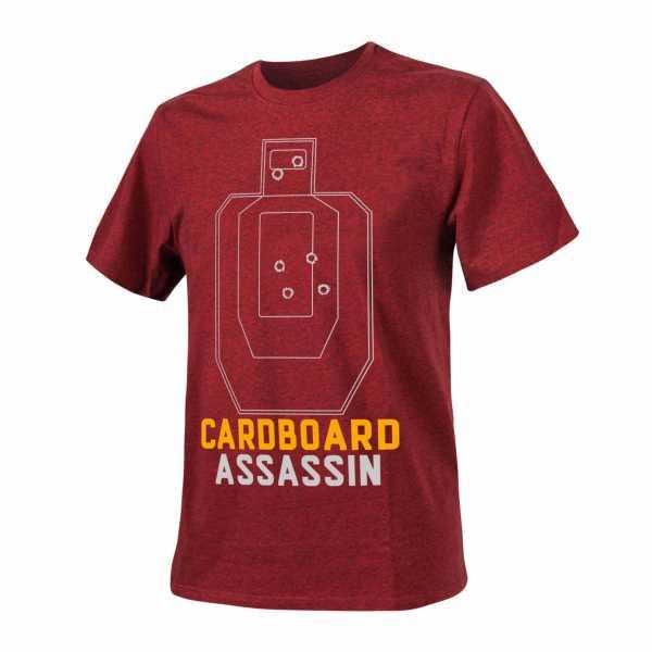 Helikon Tex T-Shirt (Cardboard Assassin) rot / schwarz melange