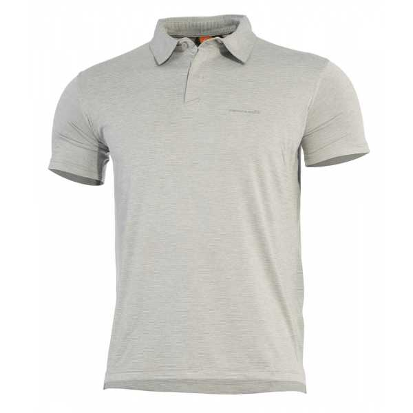 Pentagon Notus schnell trockendes Polo Shirt meliert grau